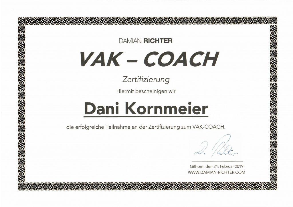 Energievoll durchs Leben Daniela Kornmeier, VAK-Coach